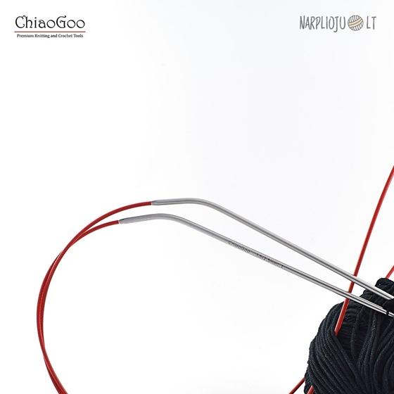 ChiaGoo SS Knit RED virbalai su valu