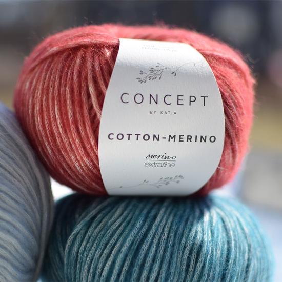 Katia Cotton-Merino - itin švelnus ir minkštas siūlas su merino vilna