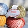 KATIA Oceania - pereinančių spalvų vasariškas lino, viskozės bei medvilnės derinys