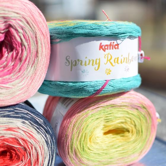 Katia Spring Rainbow pereinančių spalvų siūlai