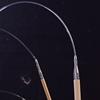 ChiaoGoo T-SPIN prisukami bambukiniai tunisietiški vąšeliai su SPIN Nylon valu