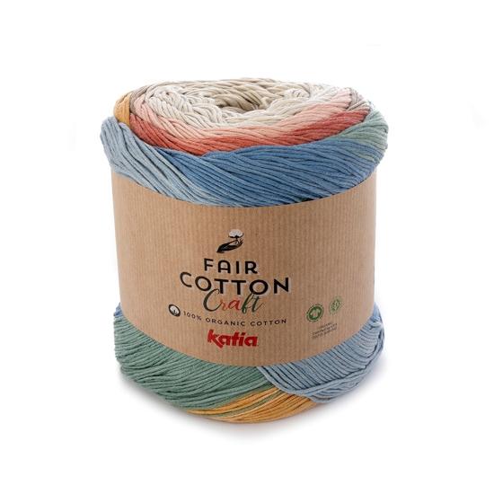 Fair Cotton Craft (500 - Beige-Rust-Sand yellow-Stone grey)