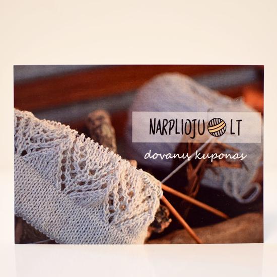 Mezgimo siūlų parduotuvės www.narplioju.lt dovanų kuponas