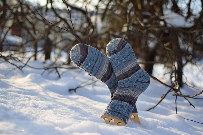 Kojinės iš OPAL Freche Freunde mezgimo siūlų