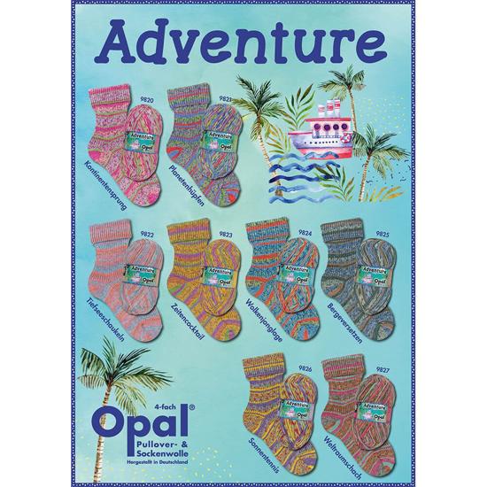 OPAL Adventure 4-ply mezgimo siūlai kojinėms