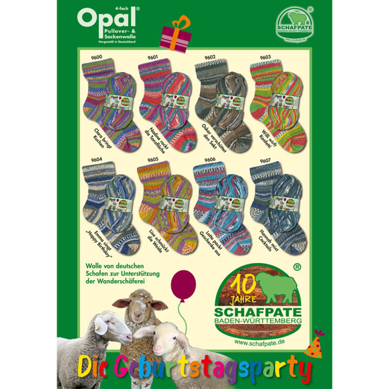 OPAL Schafpate 10 mezgimo siūlai kojinėms