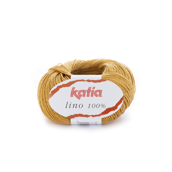 KATIA Lino 100% mezgimo siūlai